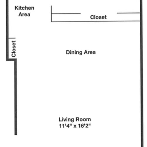 Floor Plan 1 | Apartments In Belleville NJ | Branch Brook Gardens (The Woodlands)