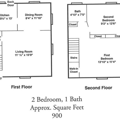 Floor Plan 5 | Belleville NJ Apartments | Branch Brook Gardens (The Woodlands)