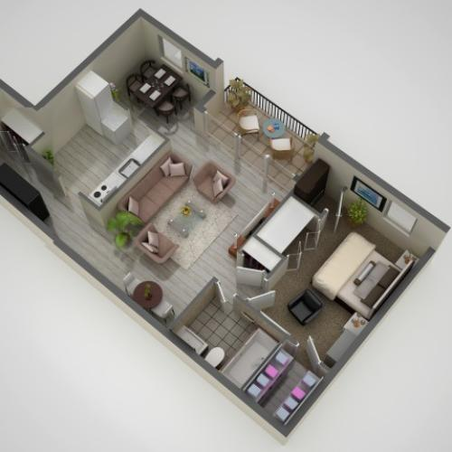 1 Bedroom Floor Plan | Apartments In Baltimore MD | Metro Pointe