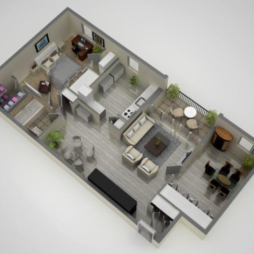Floor Plan 2 | Apartments In Baltimore | Metro Pointe