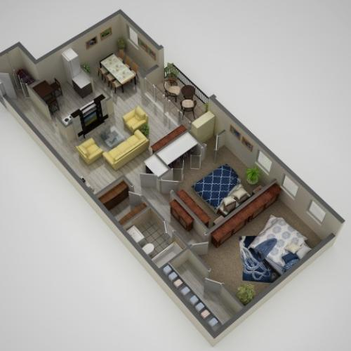 Floor Plan 1 | Apartments In Baltimore MD | Metro Pointe