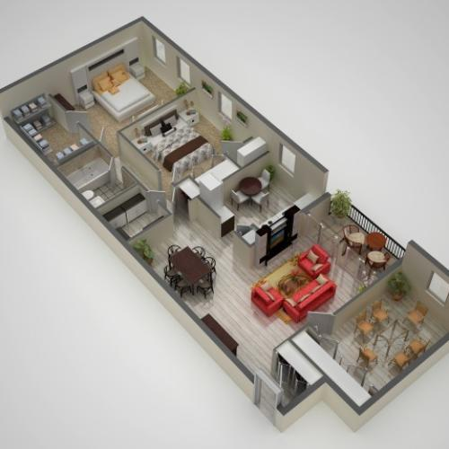 Floor Plan 3 | Baltimore MD Apartments | Metro Pointe