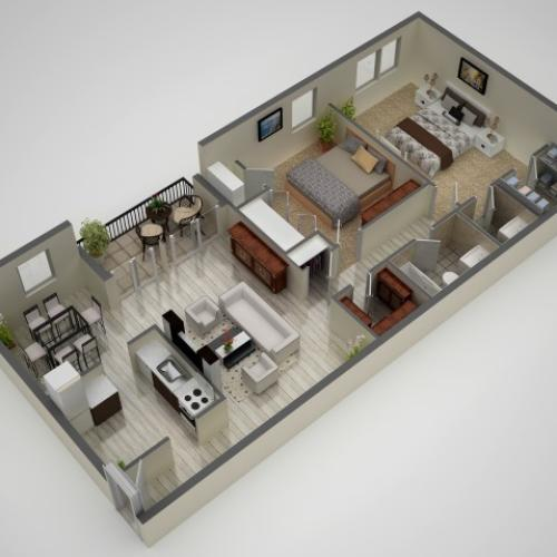 2 Bedroom Floor Plan | Baltimore MD Apartments | Metro Pointe