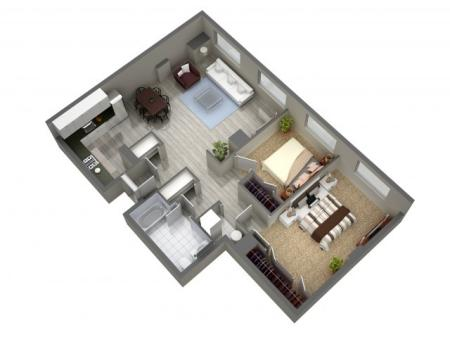 2 Bedroom Floor Plan   Cherry Hill Apartments   Cherry Hill Towers