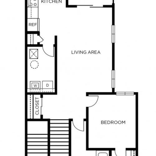 1 Bedroom Floor Plan | Apartments In Manayunk | The Glen at Shamont Station