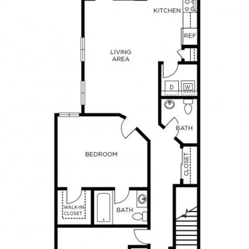 1 Bedroom and Den Floor Plan | Apartments In Manayunk | The Glen at Shamont Station