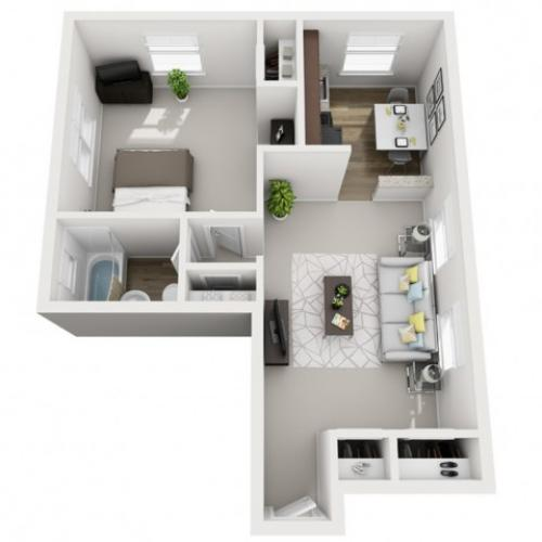 Floor Plan 4 | Apartments Near Downtown Pittsburgh | The Alden