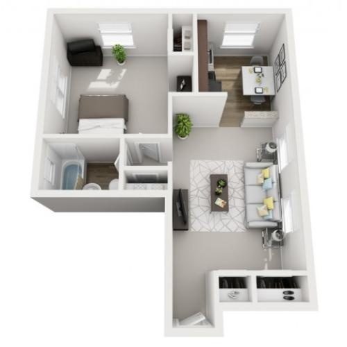 Floor Plan 5 | Apartments Near Downtown Pittsburgh PA | The Alden