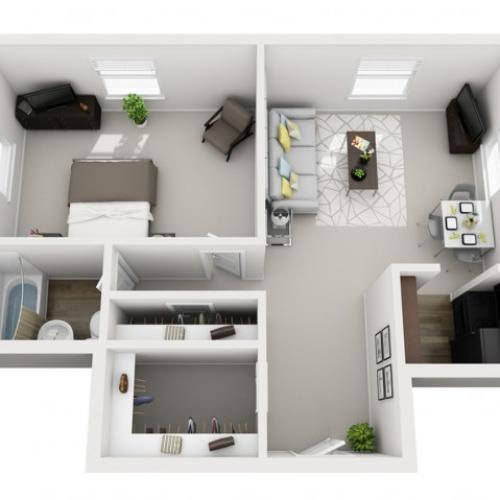 Floor Plan 1 | Apartments In Pittsburgh | The Alden