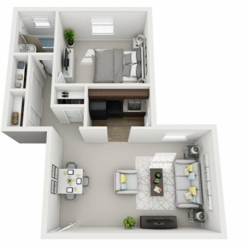 Floor Plan 11 | Apartments In Pittsburgh | The Alden