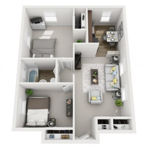 Floor Plan 21 | Apartments In Pittsburgh | The Alden