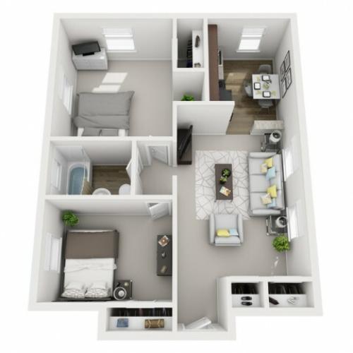 Floor Plan 21 | Apartments In Pittsburgh | The Alden