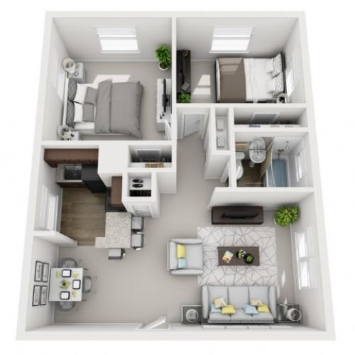 Floor Plan 20 | Apartments Near Downtown Pittsburgh PA | The Alden