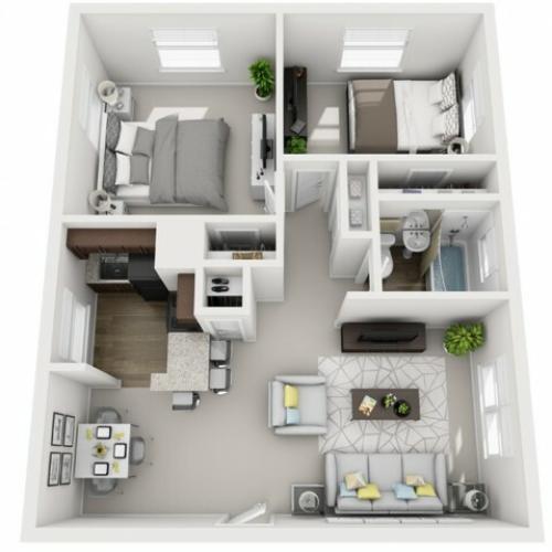 Floor Plan 14 | Apartments For Rent In Pittsburgh | The Alden