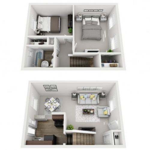 Floor Plan 23 | Apartments Near Downtown Pittsburgh | The Alden