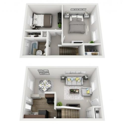 Floor Plan 27 | Apartments In Pittsburgh PA | The Alden
