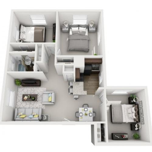 Floor Plan 33 | Apartments In Pittsburgh PA | The Alden