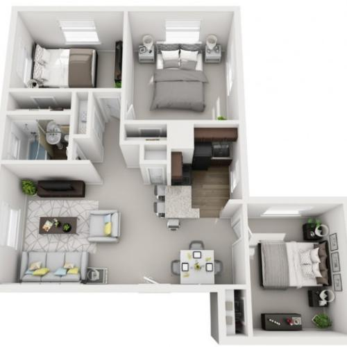 Floor Plan 34 | Apartments For Rent In Pittsburgh | The Alden