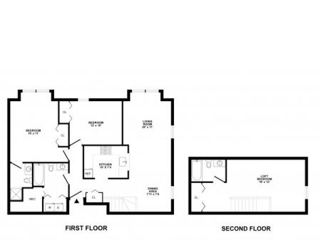 3 Bedroom Floor Plan | Apartments Elkton MD | The Apartments at Iron Ridge