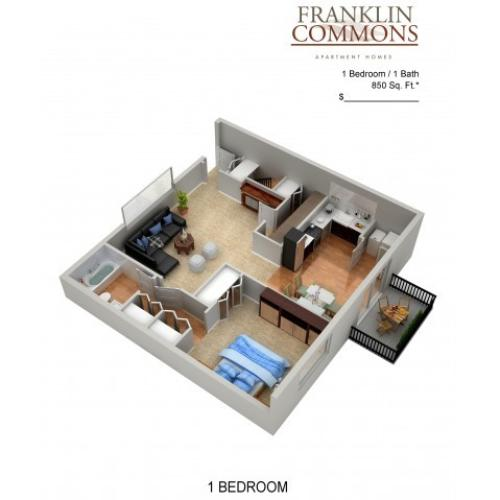 Floor Plan 18 | Apartments In Bensalem Pa | Franklin Commons