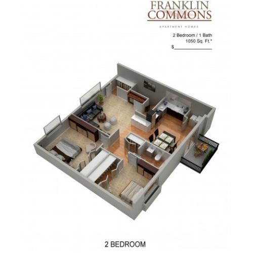 Floor Plan 11 | Bensalem Pa Apartments | Franklin Commons