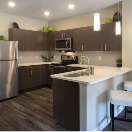 Cosmopolitan Apartments Modern Kitchen in North Hills Pittsburgh