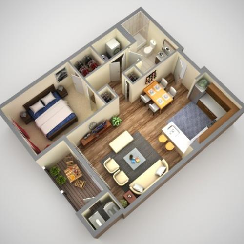 Floor Plan 1 | Apartments In Pittsburgh Pa | Cosmopolitan