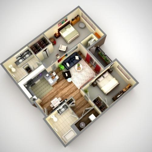 Floor Plan 8 | Pittsburgh Apartments | Cosmopolitan