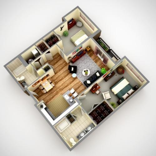 Floor Plan 6 | Apartments In Pittsburgh Pa | Cosmopolitan