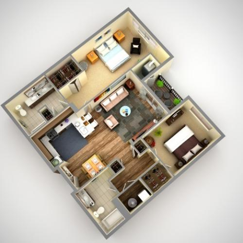 Floor Plan 5 | North Hills Pittsburgh Apartments | Cosmopolitan