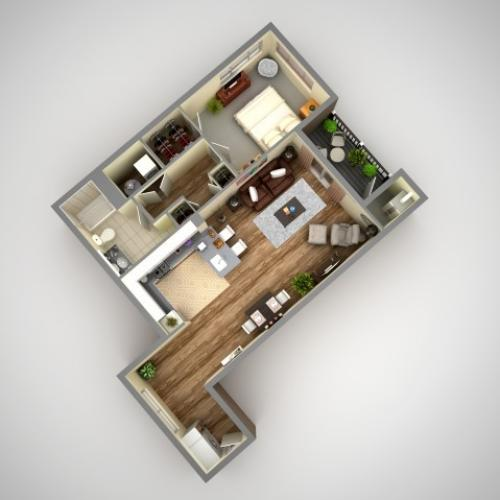 Floor Plan 2 | Luxury Apartments In Pittsburgh | Cosmopolitan