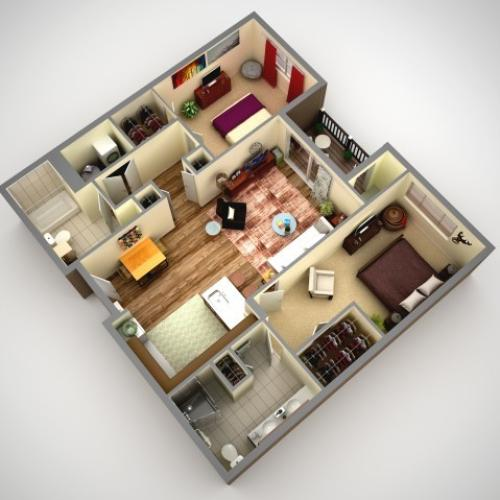 Floor Plan 4 | Apartments In Pittsburgh | Cosmopolitan