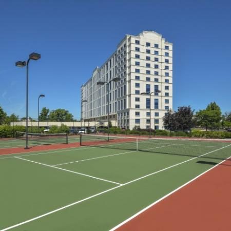 Community Tennis Court   Luxury Apartments In Cherry Hill NJ   Cherry Hill Towers