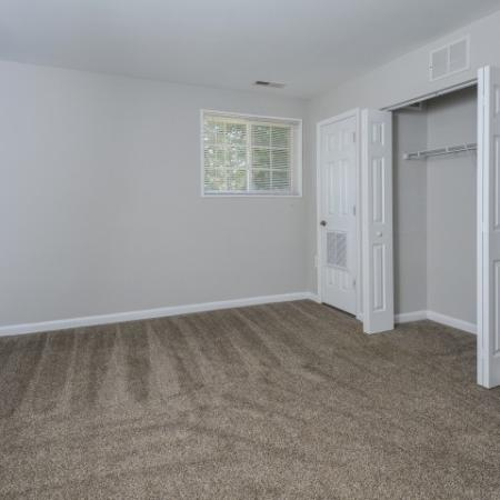 Spacious Bedrooms & Closets