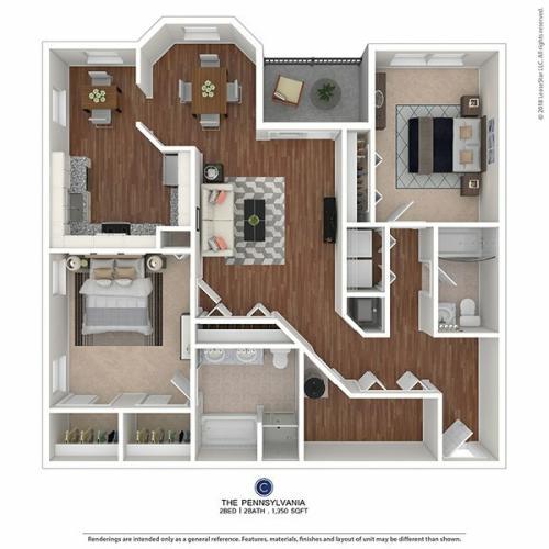 2 Bedroom 2 Bath Apartments | Blackwood, NJ