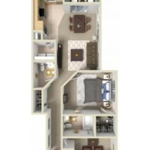 1 Bdrm Floor Plan | Manayunk PA Apartments | The Glen at Shamont Station