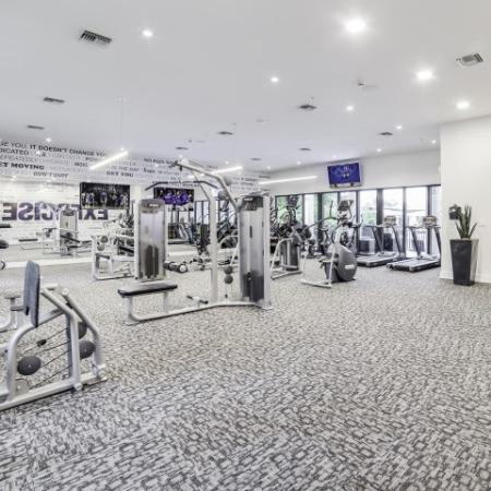 Fitness center with professional cardio Machines