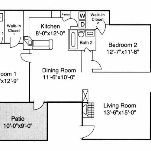 1 Bed / 1 Bath Apartment In Durham NC