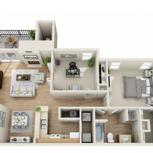 2 bedroom, 1 bathroom apartment home