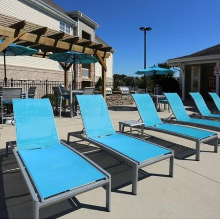 Resident Sun Deck | Winston Salem NC Apartment For Rent | Stratford at Hillcrest
