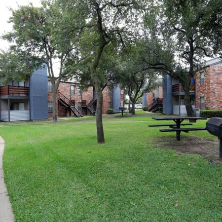 Community BBQ Grills | Garland TX Apartment For Rent | Creekside on the Green
