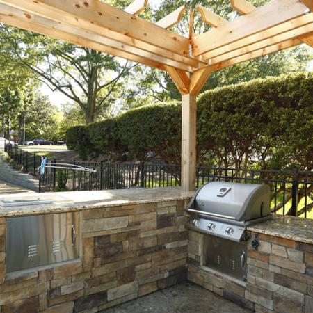 Community BBQ Grills | Raleigh NC Apartment For Rent | Autumn Ridge