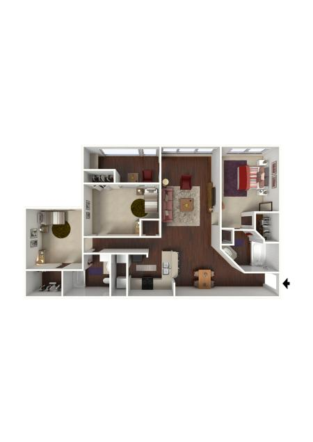 3 Bdrm Floor Plan | Apartments Near Conyers Ga | Lake St. James