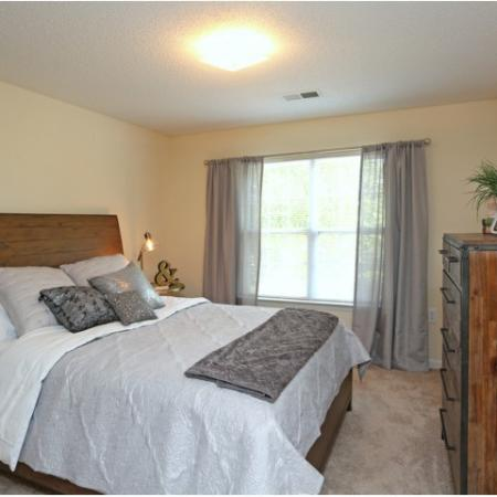 Spacious Master Bedroom | Apartments Homes for rent in Salem, NC |