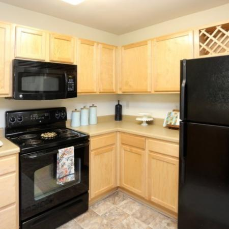 Updated Kitchen with Black Appliances | Winston Salem NC Apartments For Rent | Stratford at Hillcrest