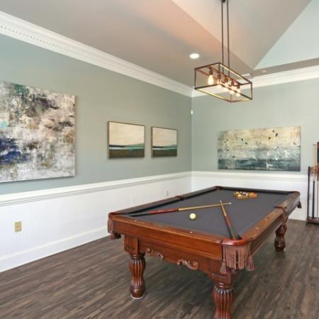 Resident Lounge with Pool Table | Apartment Homes in Winston Salem, NC | Stratford at Hillcrest