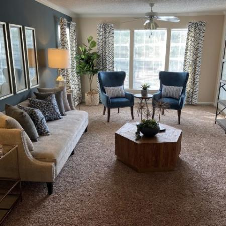 Spacious Living Room | Apartments For Rent In Mobile AL | Timber Ridge Apartments