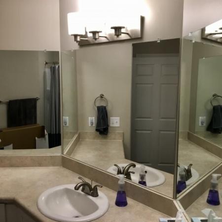 Spacious Bathroom | Mobile Housing | Timber Ridge Apartments