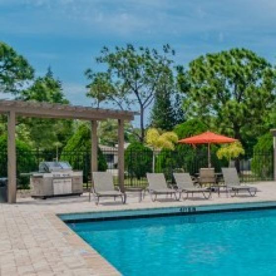 Pool and grill area