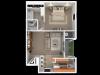 1 Bedroom; 1 Bath; Upstairs